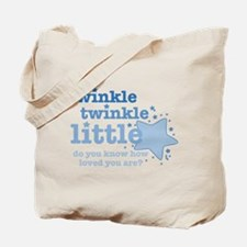 Twinkle Twinkle Blue Tote Bag