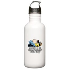Charlie Brown Reading Sports Water Bottle