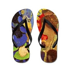 Odilon Redon - Woman Among Flowers Flip Flops