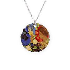 Odilon Redon - Woman Among F Necklace Circle Charm
