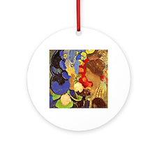 Odilon Redon - Woman Among Flowers Round Ornament