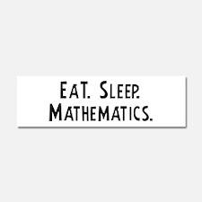 Cute Eat sleep math Car Magnet 10 x 3
