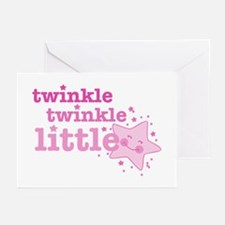 Twinkle Star Pink Greeting Cards (Pk of 10)