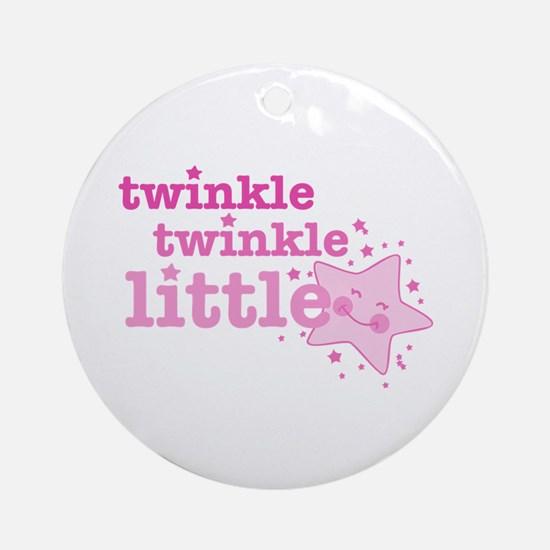 Twinkle Star Pink Ornament (Round)