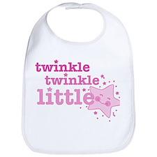 Twinkle Star Pink Bib