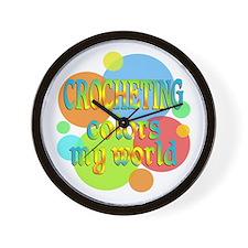 Crocheting Colors My World Wall Clock