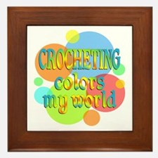 Crocheting Colors My World Framed Tile