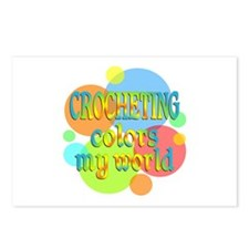 Crocheting Colors My Worl Postcards (Package of 8)