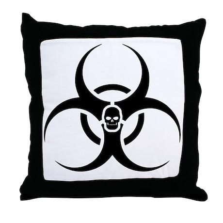 Biohazard-sk Throw Pillow