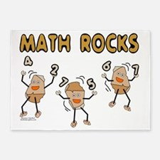 Math Rocks 5'x7'Area Rug