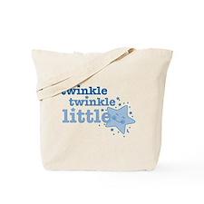 Twinkle Star Blue Tote Bag