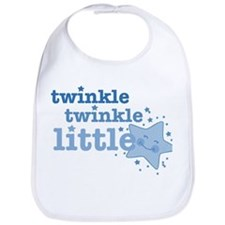 Twinkle Star Blue Bib