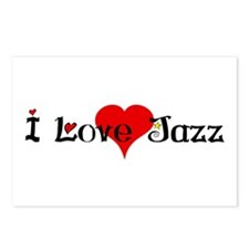 I love jazz heart Postcards (Package of 8)