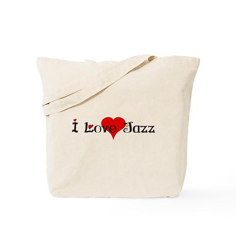 I love jazz heart Tote Bag