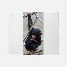 Funny Monkey Throw Blanket