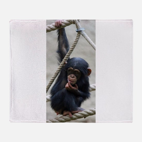 Funny Chimpanzee Throw Blanket
