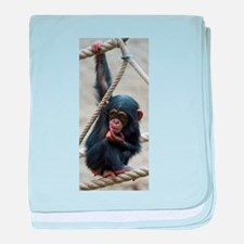 Funny Chimpanzee baby blanket