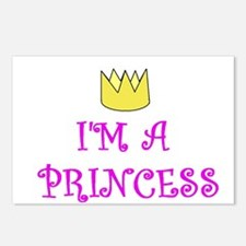 I'M A PRINCESS Postcards (Package of 8)