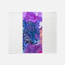 Cute Purple leopard Throw Blanket