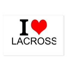I Love Lacrosse Postcards (Package of 8)