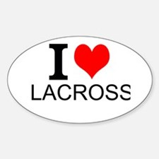 I Love Lacrosse Decal