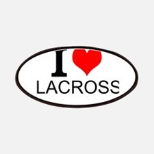 I Love Lacrosse Patches