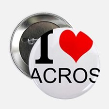 """I Love Lacrosse 2.25"""" Button (10 pack)"""