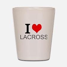 I Love Lacrosse Shot Glass
