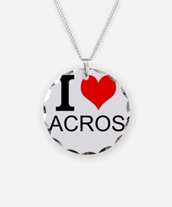 I Love Lacrosse Necklace