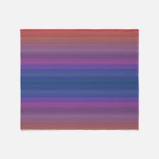 Funny Purple sunset Throw Blanket