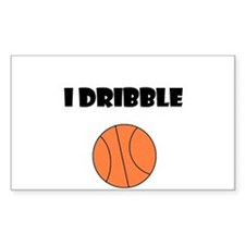 I DRIBBLE Rectangle Decal