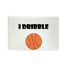 I DRIBBLE Rectangle Magnet