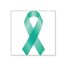 Teal Awareness Ribbon Sticker