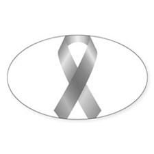 Silver Awareness Ribbon Decal