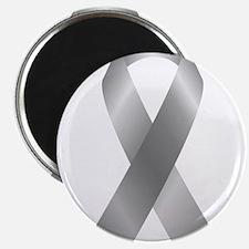 Silver Awareness Ribbon Magnets