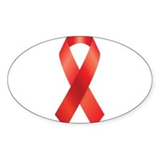 Red Awareness Ribbon Decal