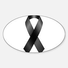 Black Awareness Ribbon Decal