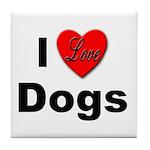 I Love Dogs Tile Coaster