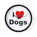 I Love Dogs Wall Clock