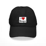 I Love Dogs Black Cap