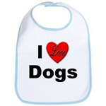 I Love Dogs Bib