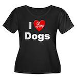 I Love Dogs (Front) Women's Plus Size Scoop Neck D