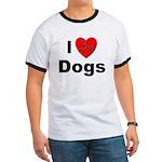 I Love Dogs (Front) Ringer T