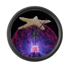 Cool Red starfish Large Wall Clock