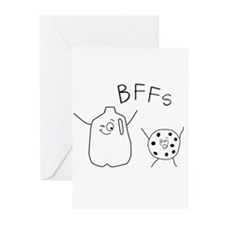 BFFs Milk cookies Greeting Cards