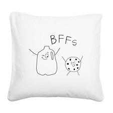BFFs Milk cookies Square Canvas Pillow
