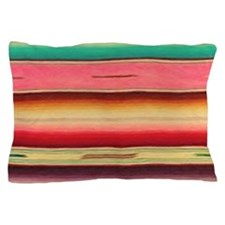 Vintage Pink Mexican Serape Pillow Case