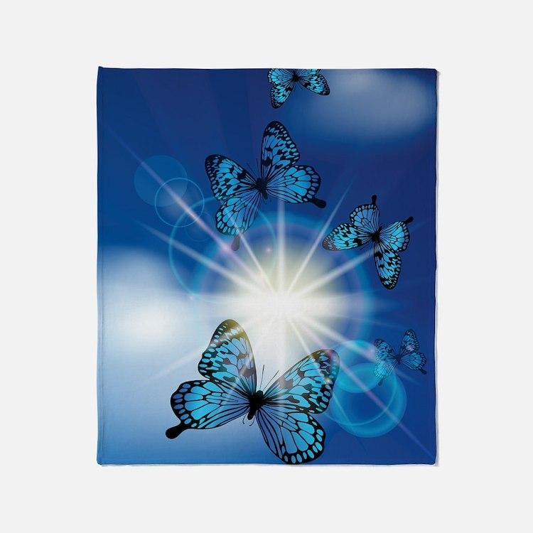Cute Butterfly Throw Blanket
