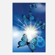 Unique Butterfly blue Postcards (Package of 8)
