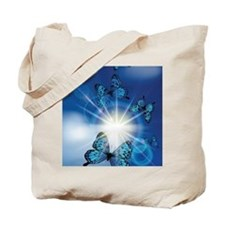 Cool Blue butterfly Tote Bag